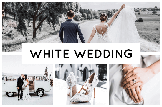 White Wedding preset filters headpicture from Pixgrade