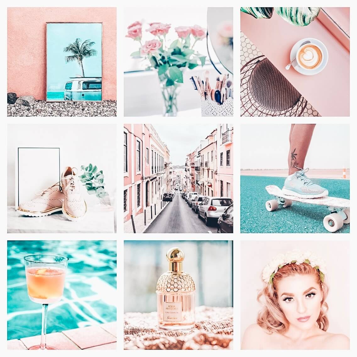 Beauty Blogger moodboard preset filters Pixgrade for mobile and desktop