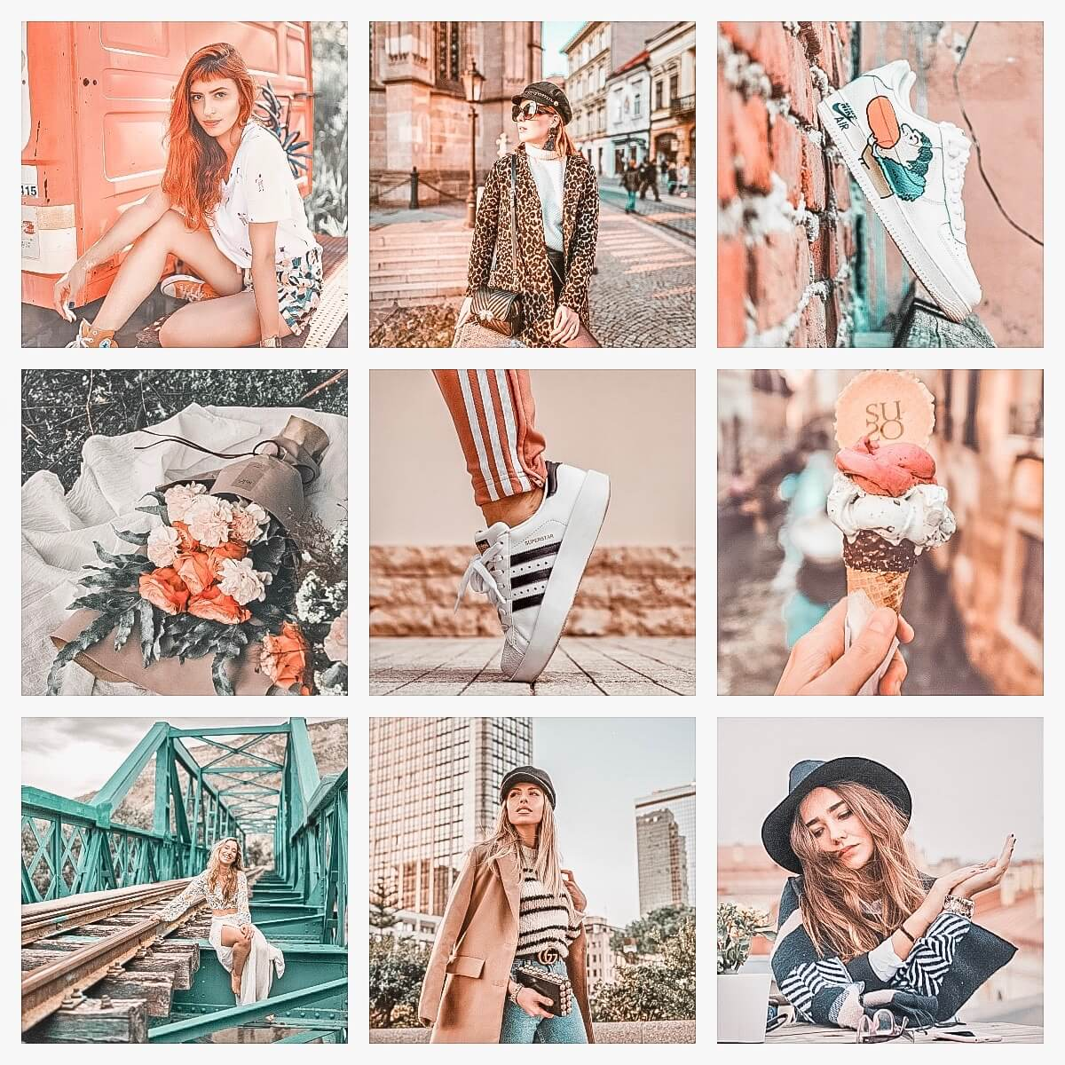 Insta Favorites moodboard preset filters Pixgrade for mobile and desktop
