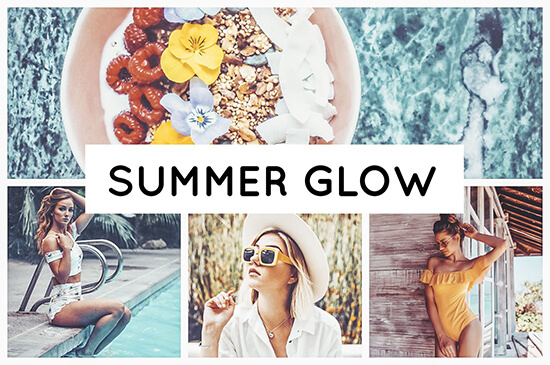 Summer Glow preset filters collage summer and vacation pictures Pixgrade