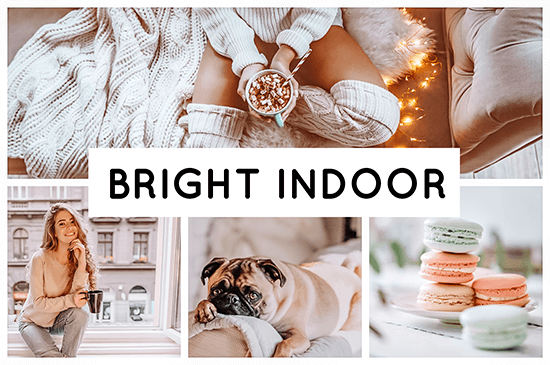 Bright Indoor preset filters collage indoor and livingroom pictures Pixgrade