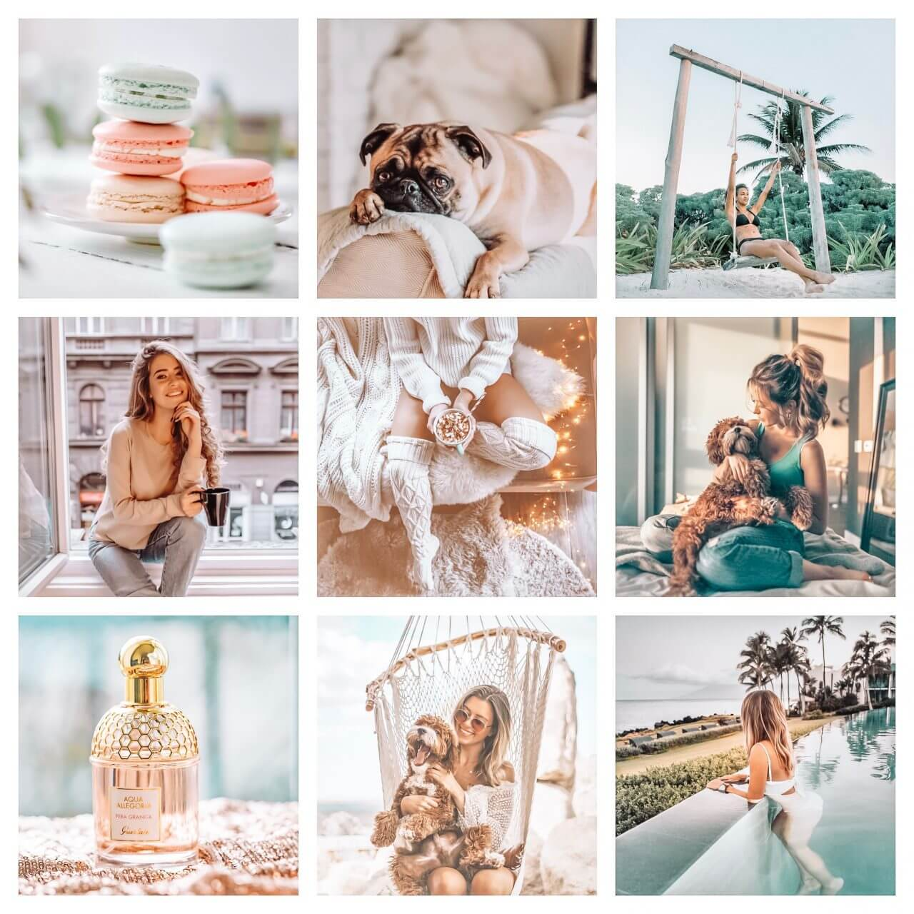Bright Indoor moodboard preset filters Pixgrade for mobile and desktop