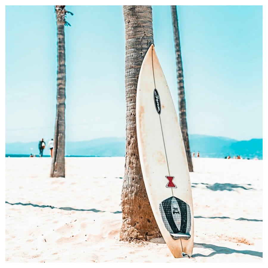 Tropical Teal Lightroom Preset Filters surfboard, surfing and summer for bloggers after