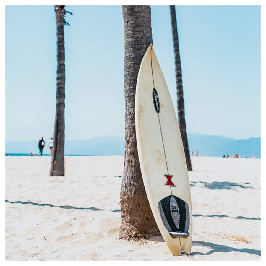 Tropical Teal Lightroom Preset Filters surfboard, surfing and summer for bloggers before