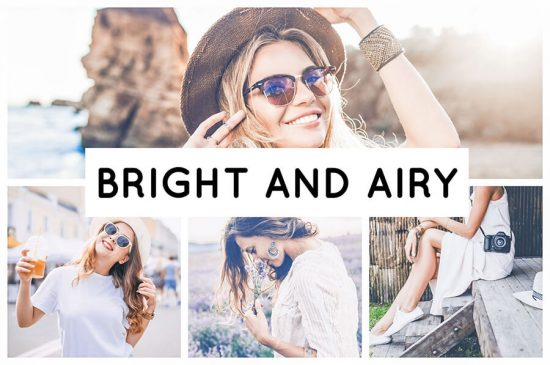 Bright and Airy preset filters collage summer and nature pictures Pixgrade
