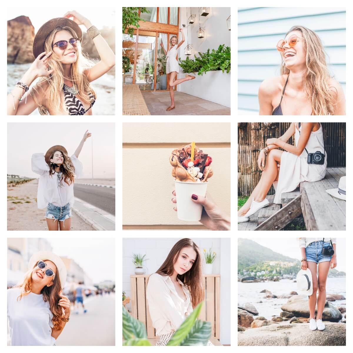 Bright and Airy moodboard preset filters Pixgrade for mobile and desktop