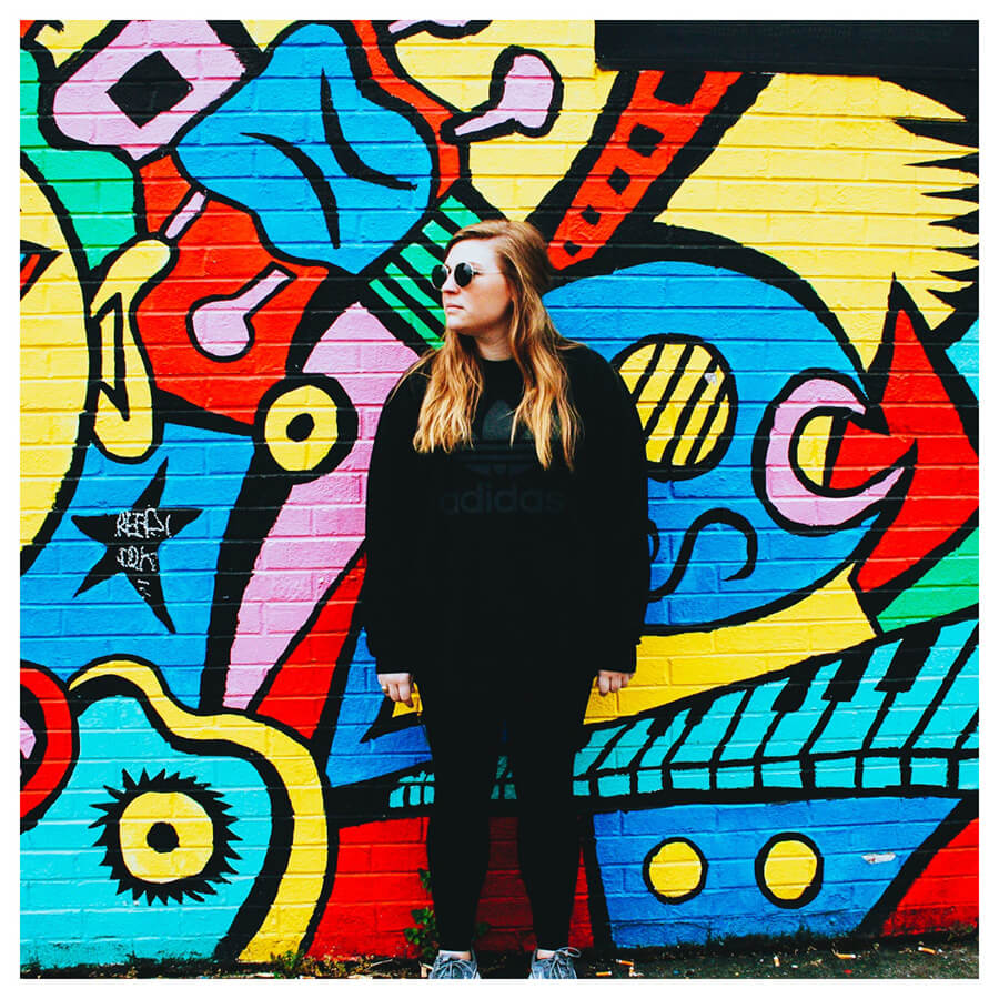 Lollipop Lightroom Preset Filters girl and graffiti wall for photography after