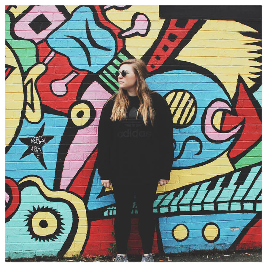 Lollipop Lightroom Preset Filters girl and graffiti wall for photography before