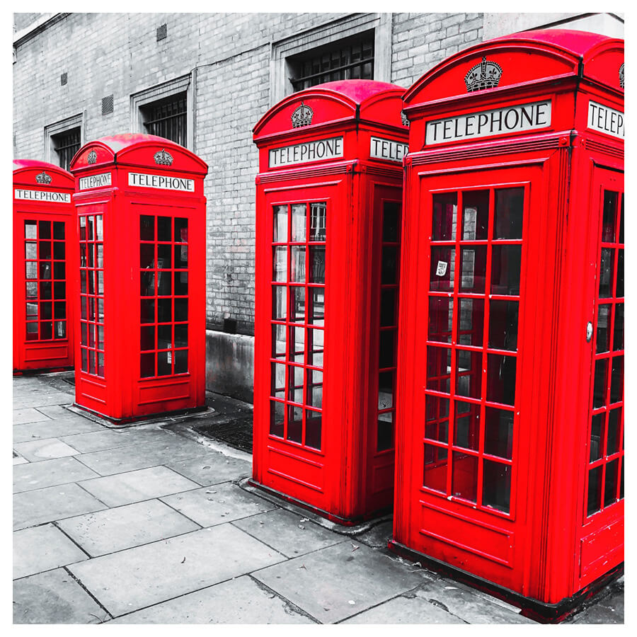 Red Velvet Lightroom Preset Filters telephone booth and London after