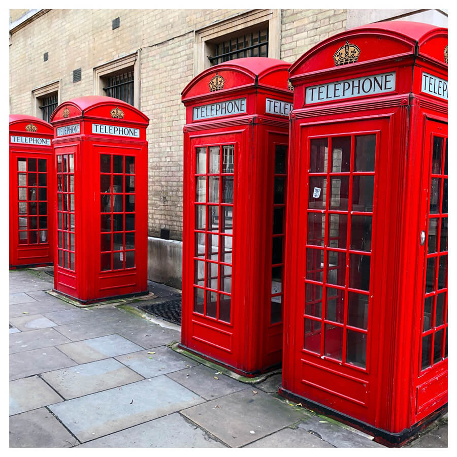 Red Velvet Lightroom Preset Filters telephone booth and London before