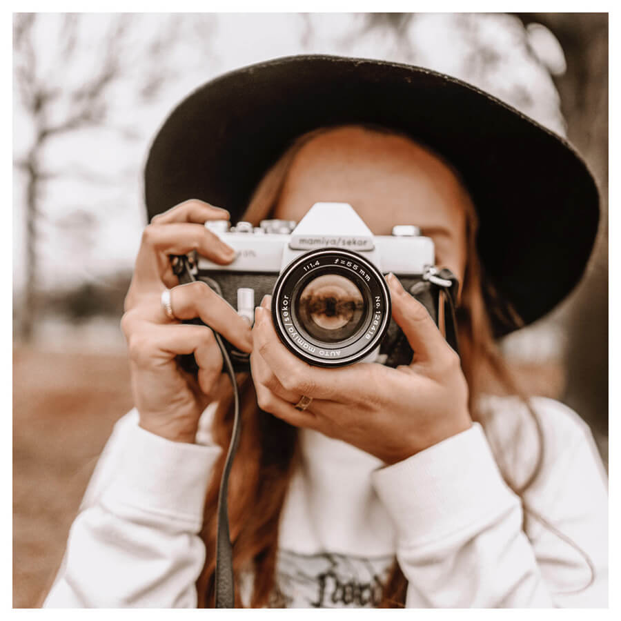 Cappuccino Lightroom Preset Filters camera and girl for Instagram influencers After