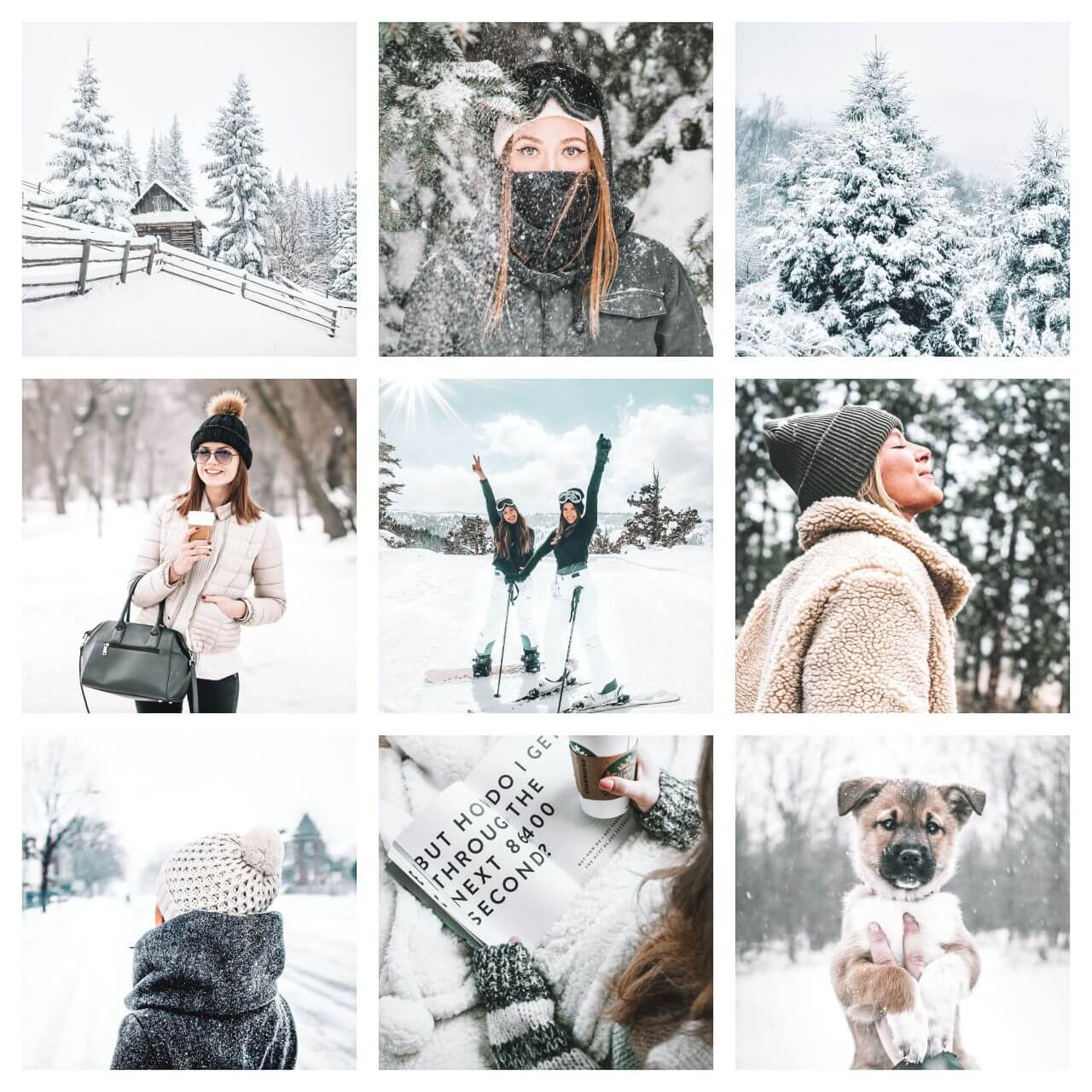 Snow Fever moodboard preset filters Pixgrade for mobile and desktop