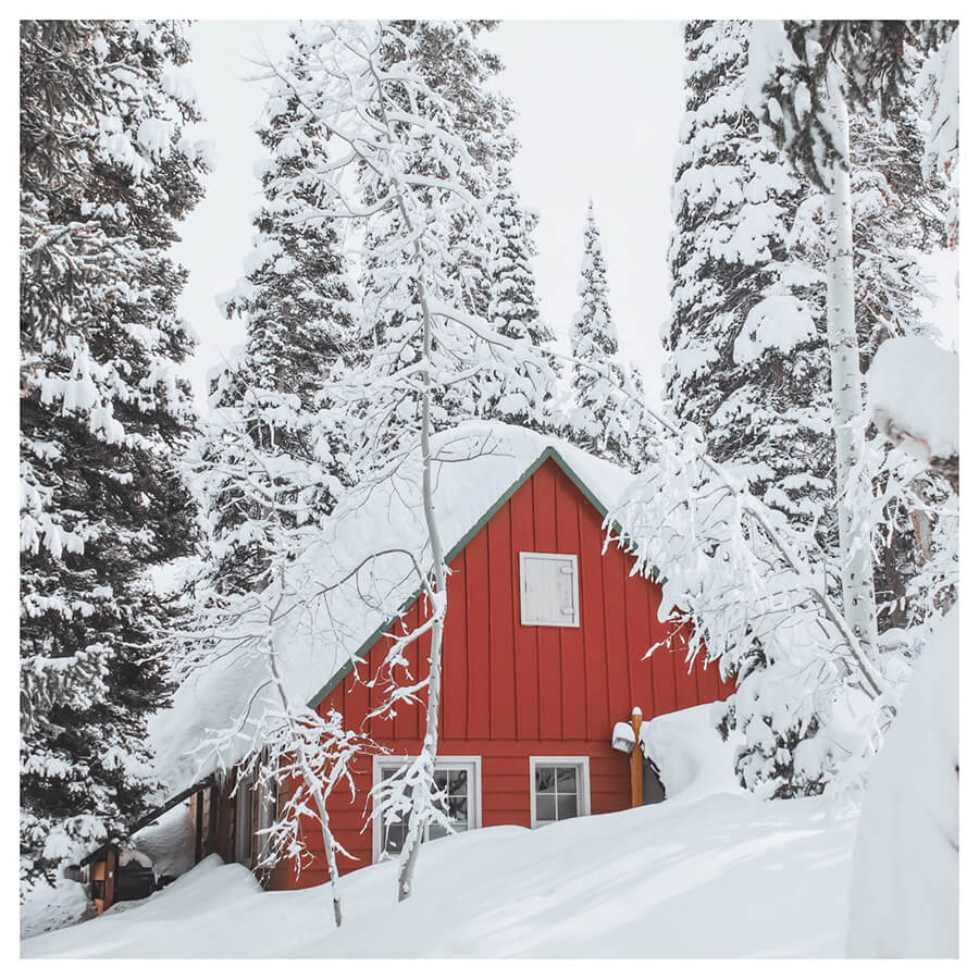 Winter For Men Lightroom Preset filters house in the snow after