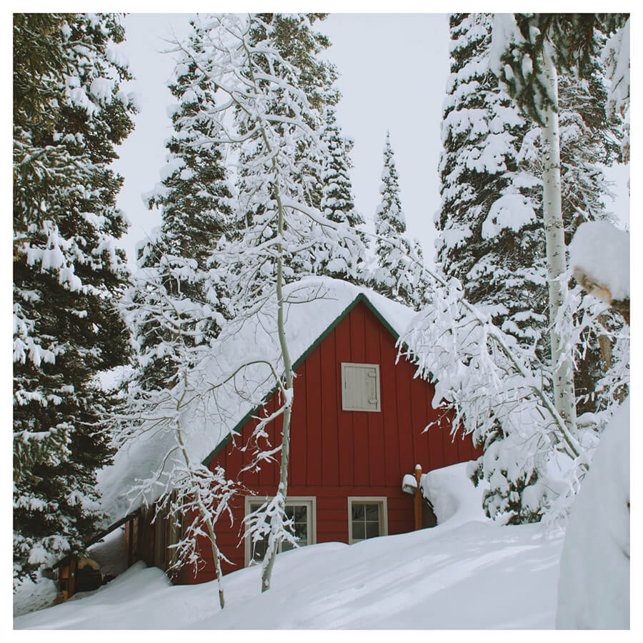 Winter For Men Lightroom Preset filters house in the snow before