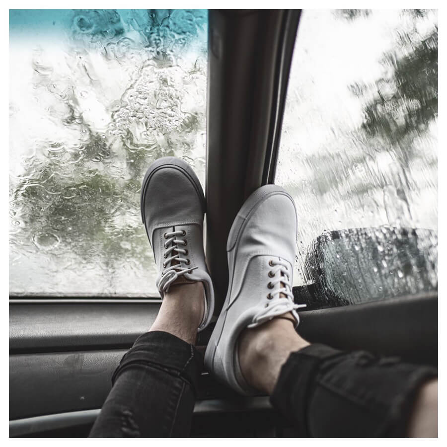 Winter For Men Lightroom Preset filters white shoes in a car before