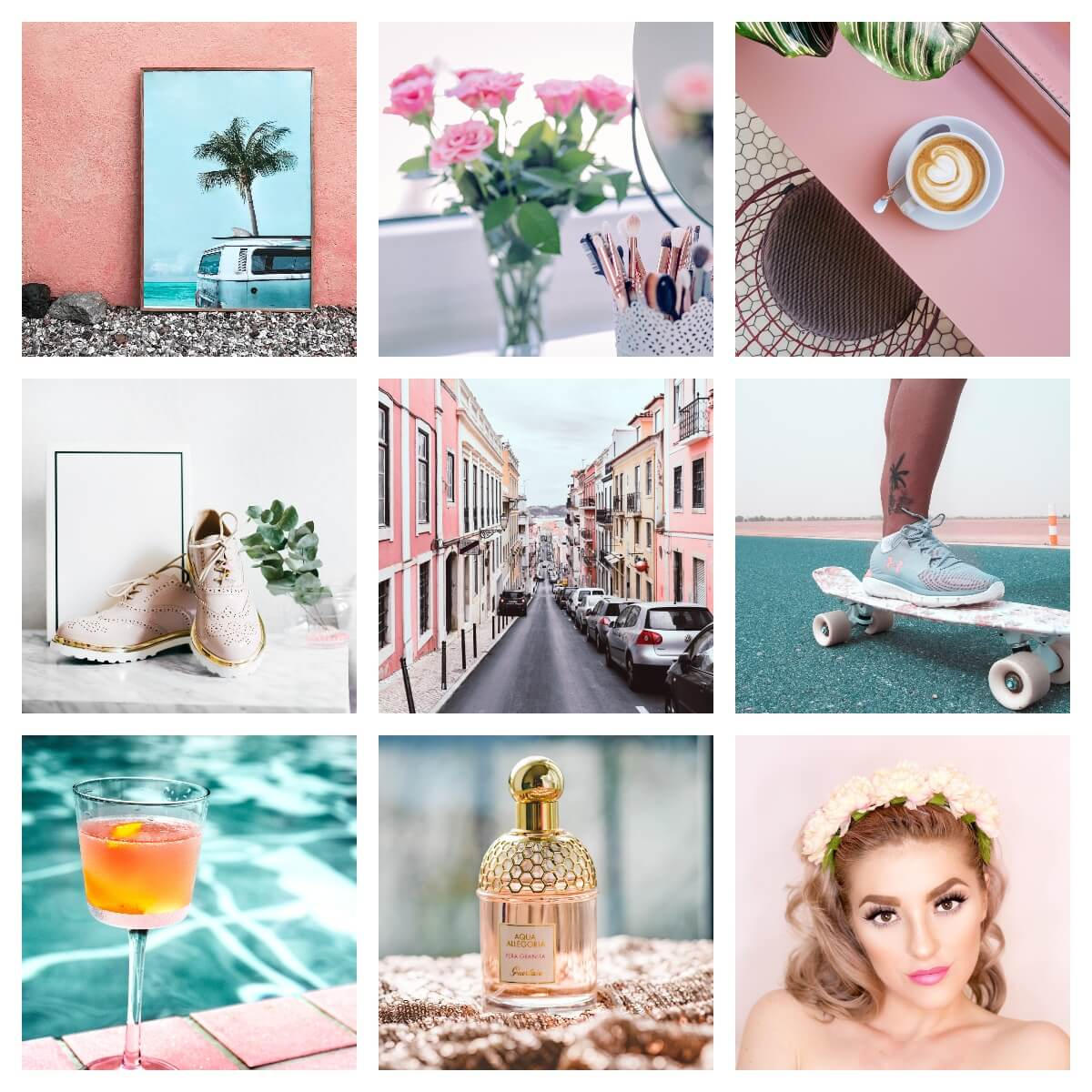 Pixgrade Lightroom Presets Beauty Blogger Moodboard Before
