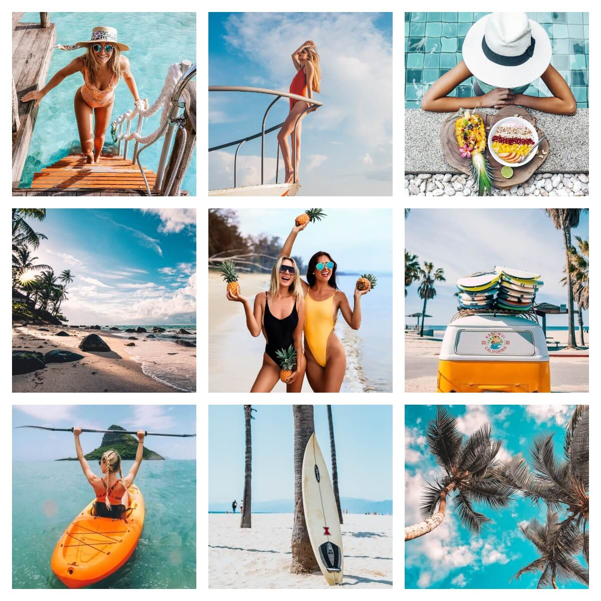 Pixgrade Lightroom Preset Tropical Teal Moodboard Before