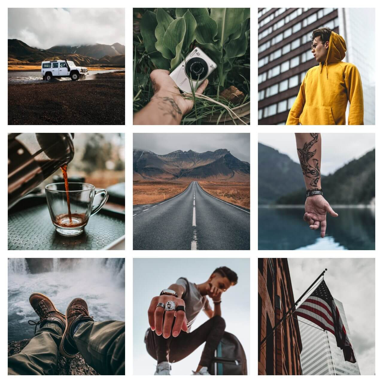 Pixgrade Moody For Men Moodboard before