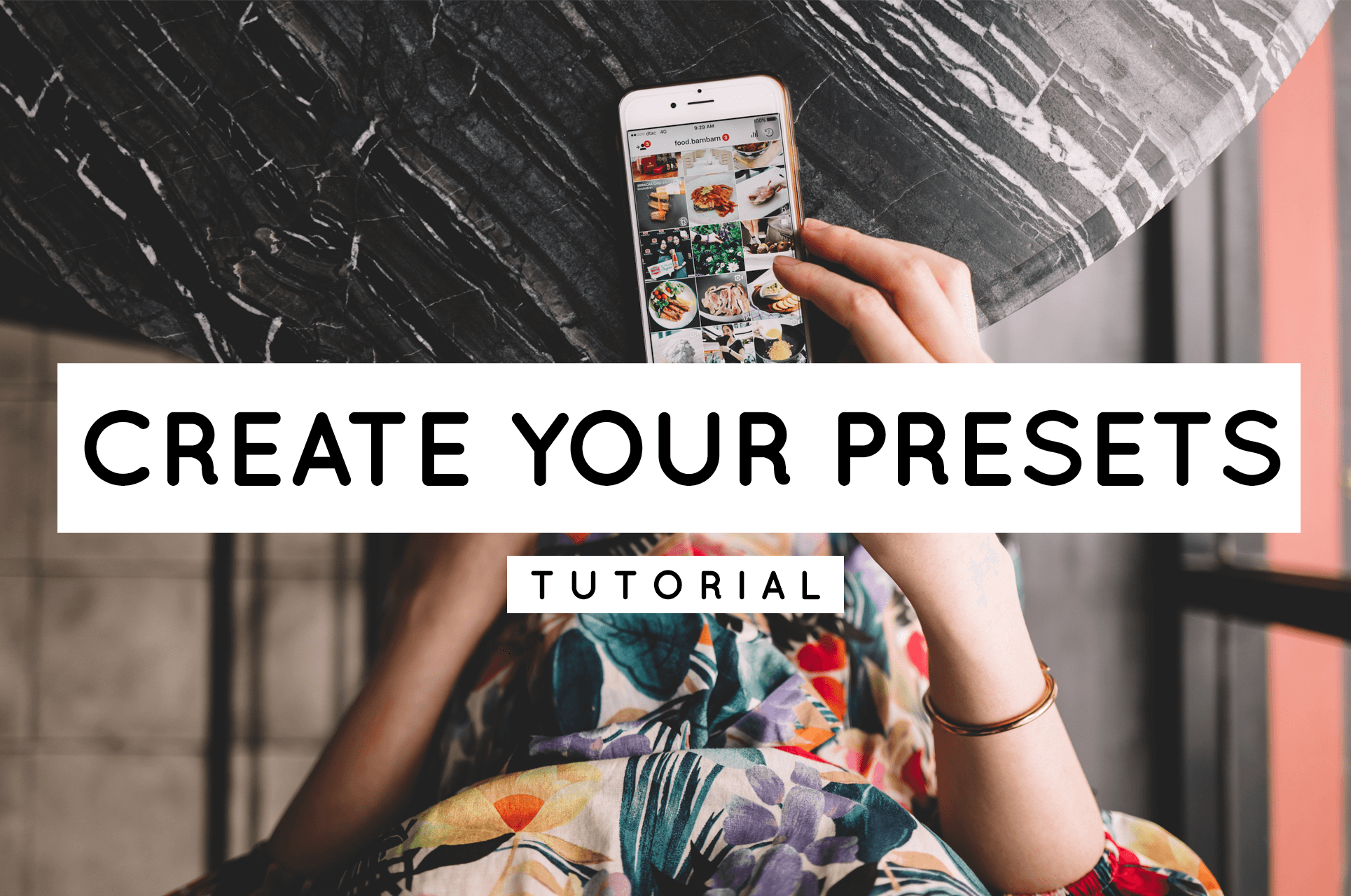 Header picture how to create your own lightroom Presets
