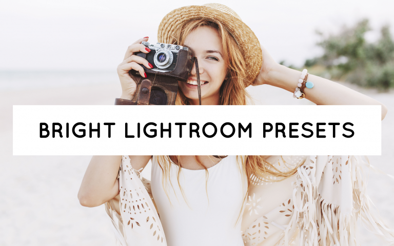 Blog Header of best bright lightroom presets